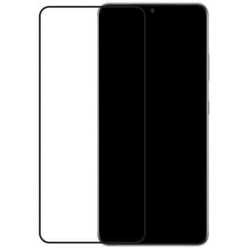 Mobilize Edge-To-Edge Glass Screen Protector Samsung Galaxy S21 Ultra Black Edge Glue