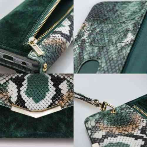 Mobilize 2in1 Gelly Velvet Clutch for Apple iPhone 11 Green Snake