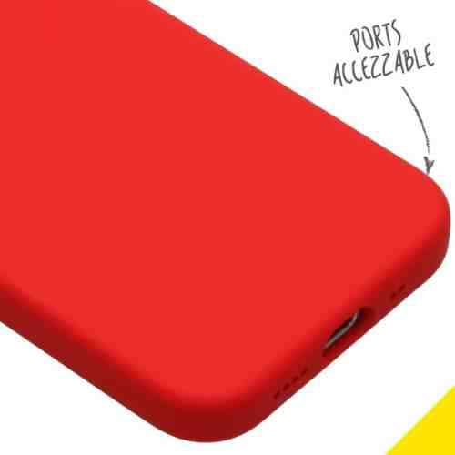 ACCEZZ LIQUID SILICONE BACKCOVER VOOR DE IPHONE 12 MINI - ROOD
