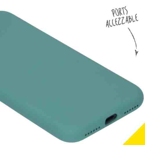 ACCEZZ LIQUID SILICONE BACKCOVER VOOR DE IPHONE SE (2020) / 8 / 7 - PINE GREEN