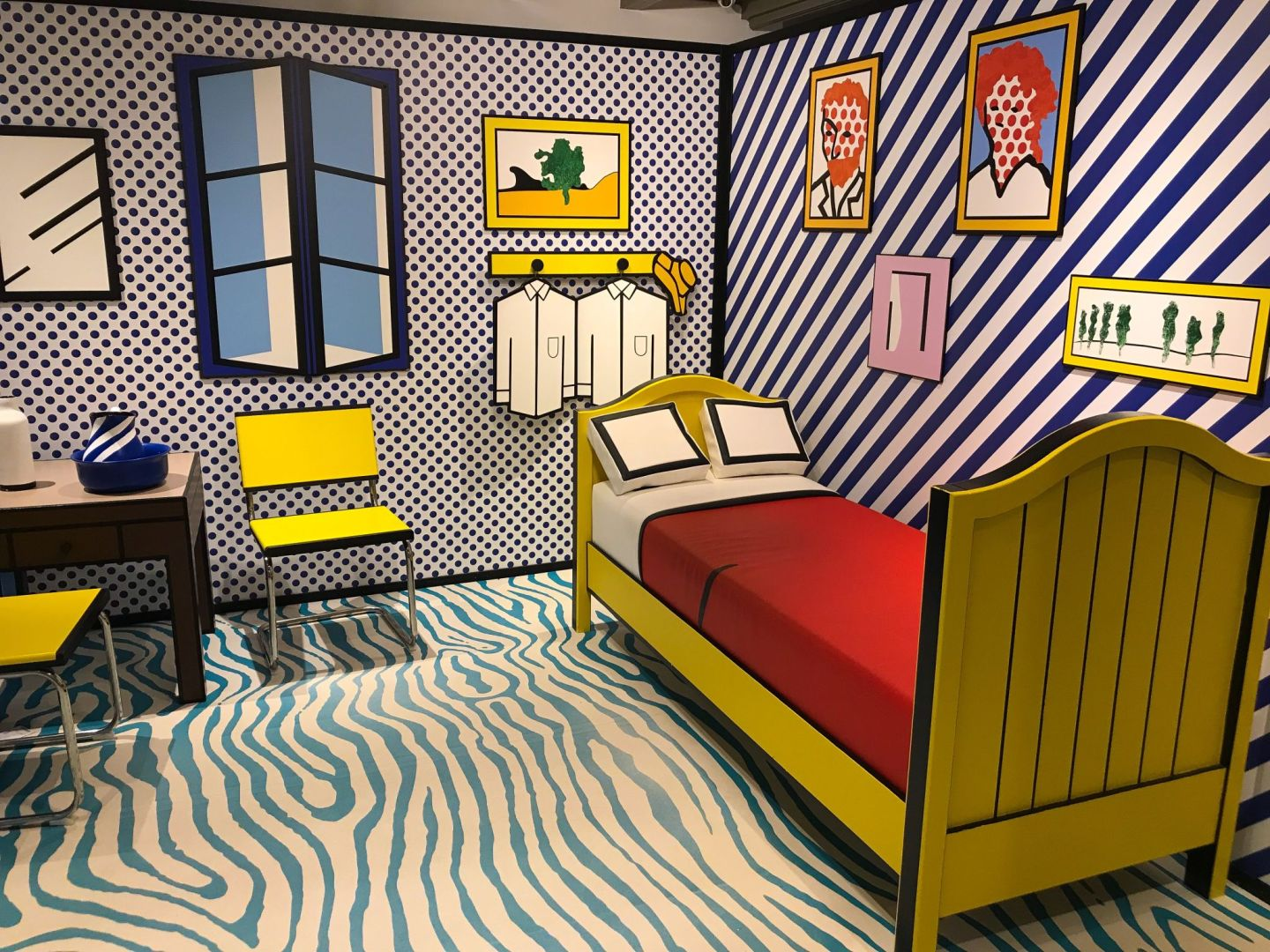 Roy Lichtenstein's version of Van Gogh's The Artist's Room