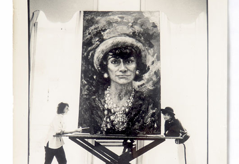 Portrait of Coco Chanel, painted by her friend, Marion Pike.