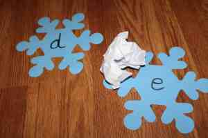 Letter Identification and Snowflake Ball Toss Kids Preschool Activity Mom Explores the Smokies