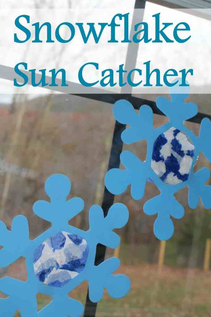 Snowflake Sun Catcher Craft