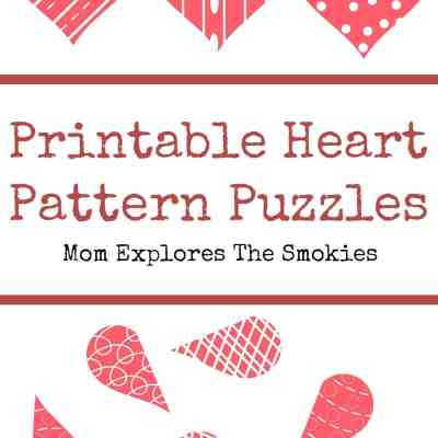 Printable Heart Pattern Puzzles