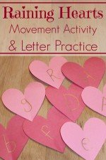 Raining Hearts Movement Activity And Letter Practice