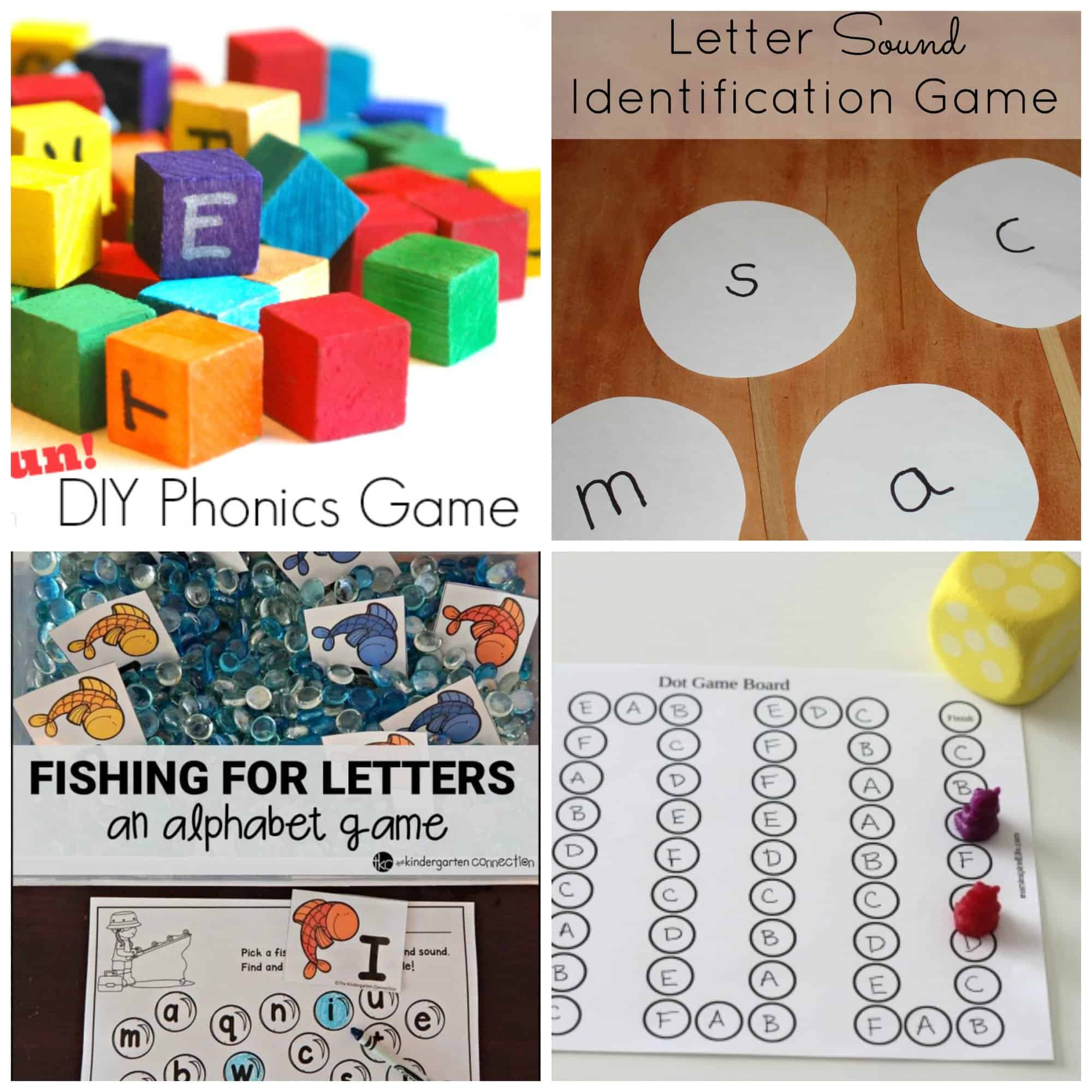 diy phonics game by one time through this fun game helps your child connect letter sounds to real world items