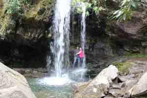 Kid Friendly Smokies, Grotto Falls, Mom Explores The Smokies