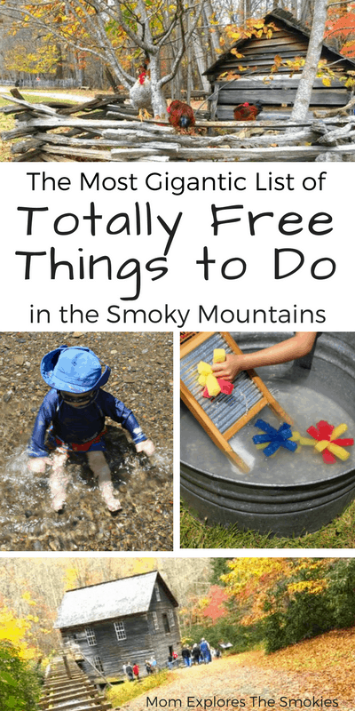 The Most Gigantic List of Totally Free Things to Do In The Smoky Mountains, Gatlinburg, and Pigeon Forge