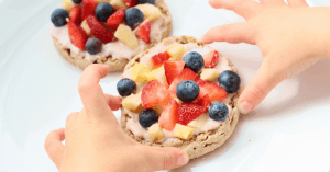 Healthy breakfast pizza recipe kids will love to eat. Easy enough, they can make it themselves.