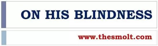 On his Blindness summary
