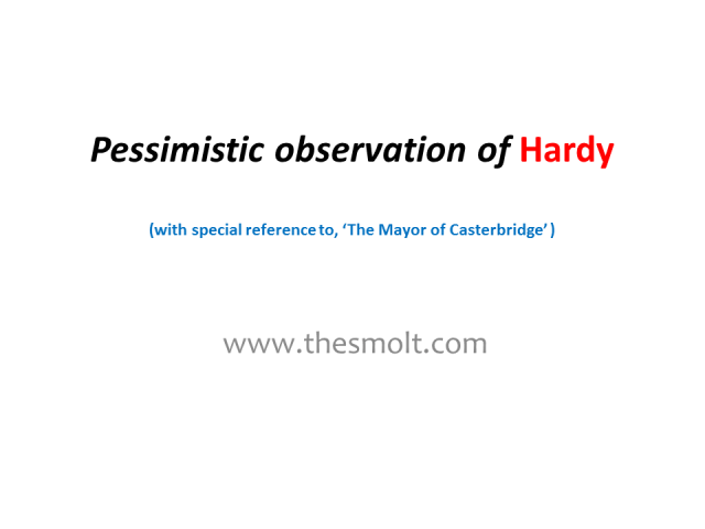 Thomas Hardy and the Role of Observer