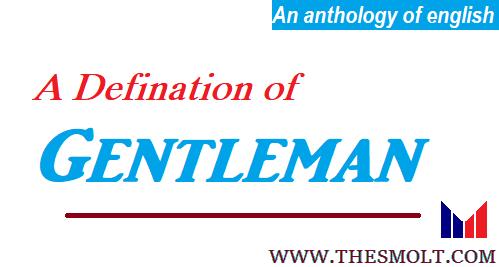 A Definition of a Gentleman