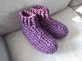 Chunky slippers made from 'Big Brit Woolyknit' yarn