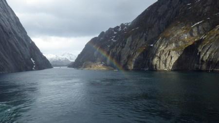 Rainbow in the Troll Fjord