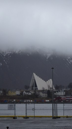 The Arctic Cathedral under leaden skies