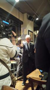 Bill Clinton made a surprise visit to the Prince Street Cafe. (Kelsey Bundra/Snapper)