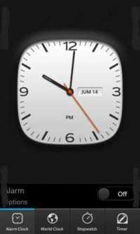 BlackBerry Horloge Clock