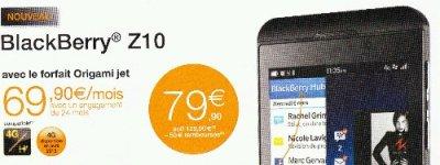 Orange BlackBerry Z10