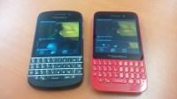 Luminosité du BlackBerry Q5 rouge vs. BlackBerry Q10 noir