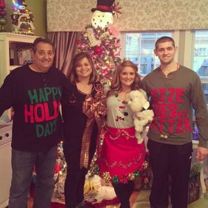 Wolfram syndrome patient Adam Zwan and family at Christmas time