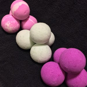 Welsh Rose, Clarity & First Kiss Bath Bombs