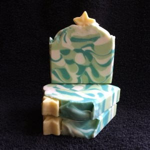 Frosted Christmas Tree Handmade Soap