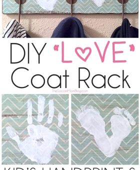 DIY LOVE Footprint & Handprint Coat Rack