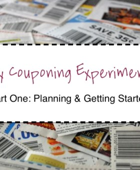 My Couponing Experiment