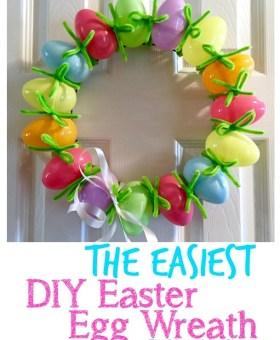 The Easiest DIY Easter Egg Wreath
