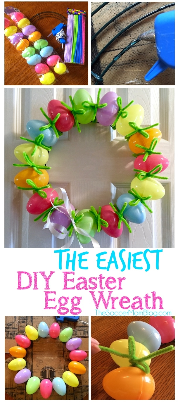 this adorable diy easter egg wreath is both easy and cheap or free