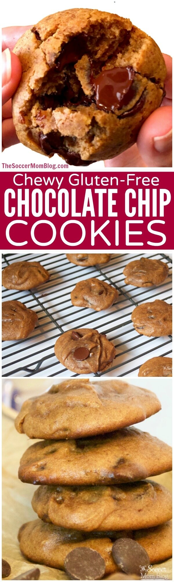 These gluten free chocolate chip cookies are so rich, chewy, and chocolate-y that you'd never guess they're actually healthy!