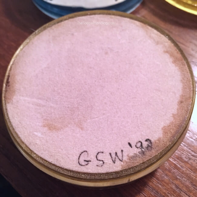 back of a homemade resin coaster with felt lining