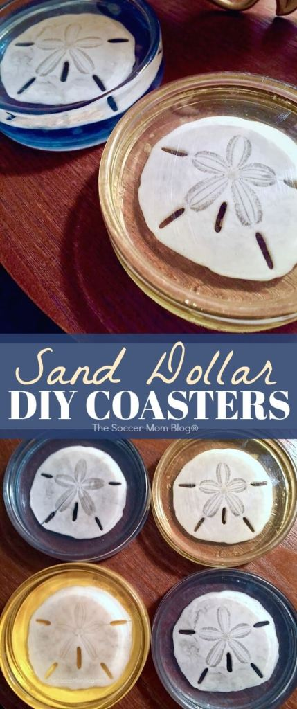 Bring the beach home with these gorgeous Sand Dollar Resin Coasters! Such a unique seashell craft or gift idea!