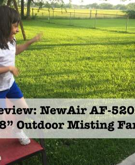 Beating the Texas Heat: NewAir AF-520B 18″ Outdoor Misting Fan Review
