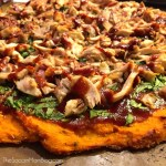 Healthy Barbecue Chicken Pizza with Sweet Potato Crust