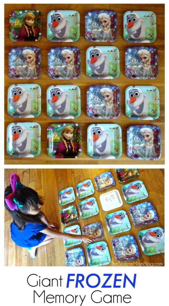 This giant FROZEN memory game will be the hit of the party! Plus more DIY ideas for a fabulous #BDayOnBudget #ad