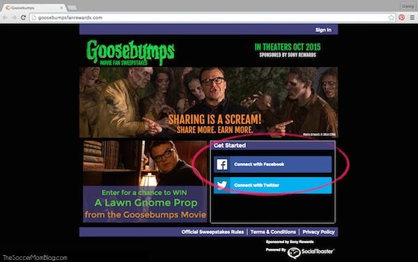 Enter to win spooktacular prizes in the #GoosebumpsMovie Fan Zone! #sponsored