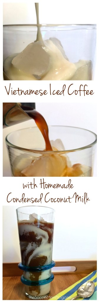 Rich espresso perfectly balanced by sweet condensed coconut milk -- and 100% dairy free! My new favorite coffee treat!