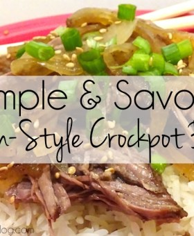 Simple and Savory Asian Style Crockpot Beef