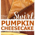 Pumpkin Swirl Cheesecake with Chocolate Gingersnap Crust