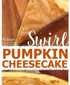 Pumpkin Swirl Cheesecake with Chocolate Gingersnap Crust