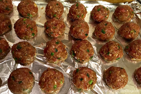 """You've never had a meatball like these! This Bulgogi Meatball recipe is a deliciously sweet and savory spin on a traditional Korean favorite. (The """"secret"""" ingredient MAKES them!)"""