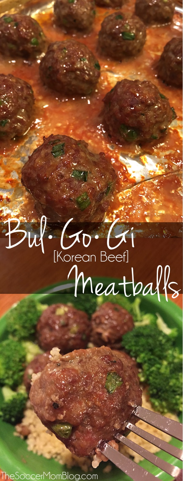 """You've never had a meatball like this before! This Bulgogi Meatballs recipe is a deliciously sweet and savory spin on a traditional Korean favorite. (The """"secret"""" ingredient MAKES them!)"""