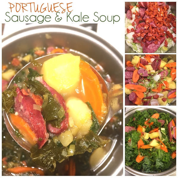 One-Pot Portuguese Sausage and Kale Soup