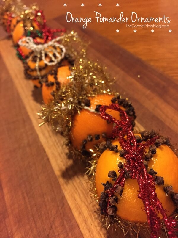 Deliciously fragrant Orange Pomander Ornaments are a Christmas tradition and easy enough to make with kids. A beautiful handmade holiday decoration.