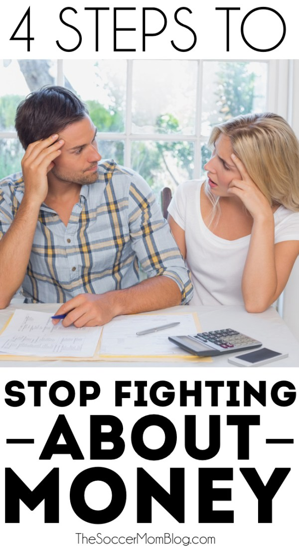 Talking about money doesn't have to be a bad thing -- try these 4 steps with your partner to take control of your finances & stop fighting about money!
