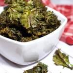 Crispy Baked Purple Kale Chips