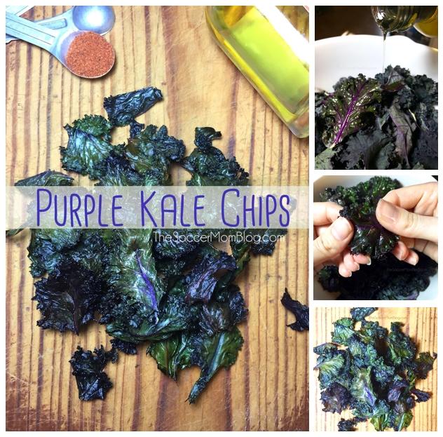 Baked Purple Kale Chips