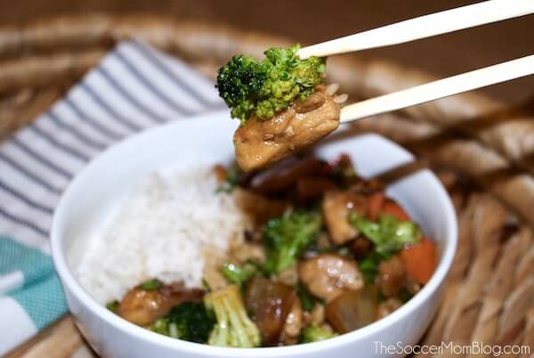 The perfect weeknight dinner! This sweet soy glazed chicken and broccoli recipe is easy, fresh, and delicious. It is sure to be an instant favorite!